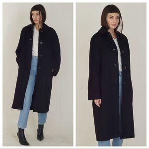 '50s vintage black wool coat